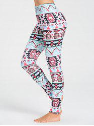 Tribal Pattern Workout Leggings -