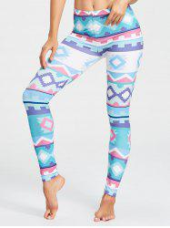 Geometric Pattern Yoga Tights -