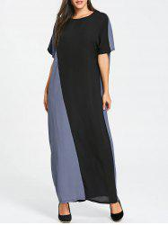 Color Block Maxi Shift Dress -