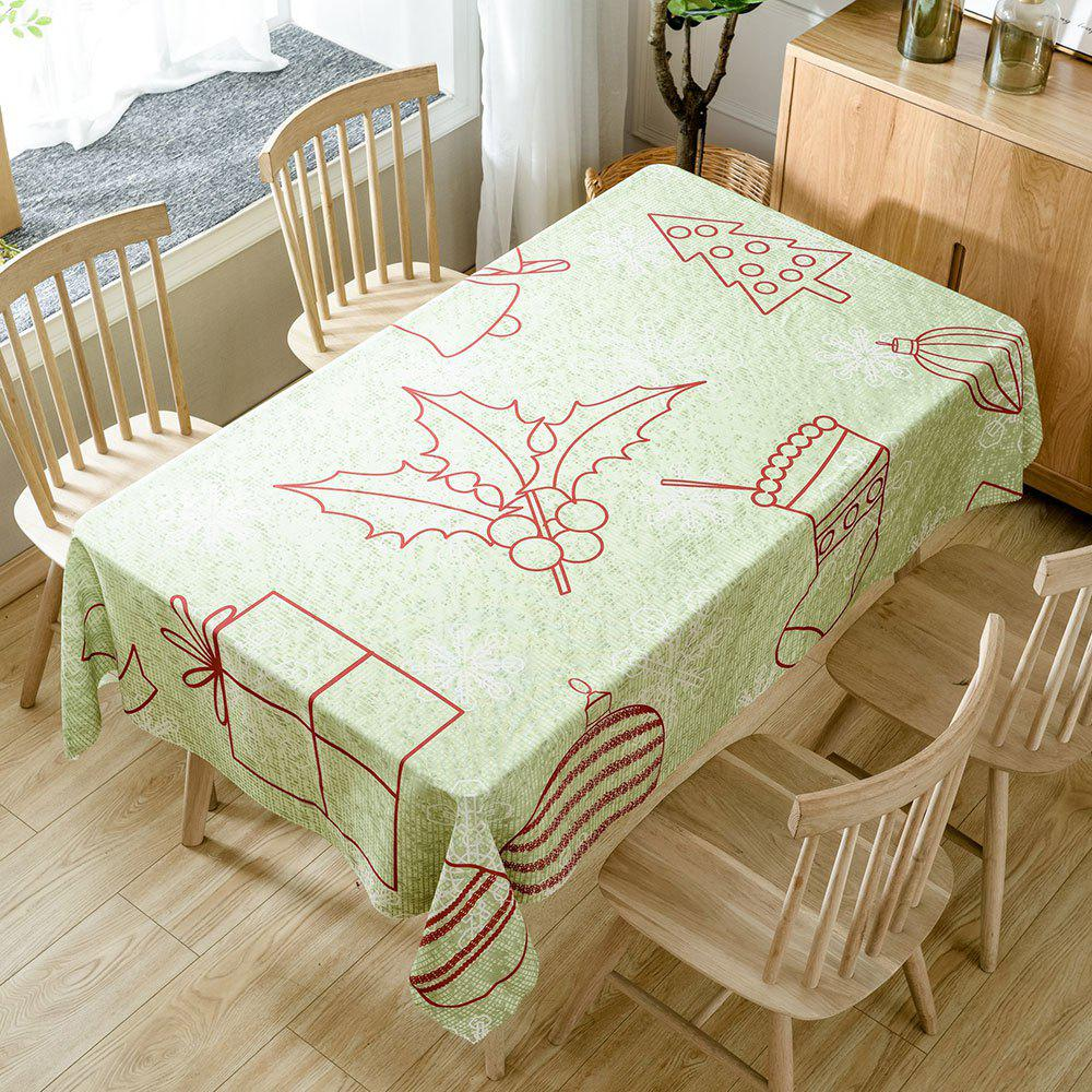 Christmas Series Print Fabric Waterproof Table Cloth