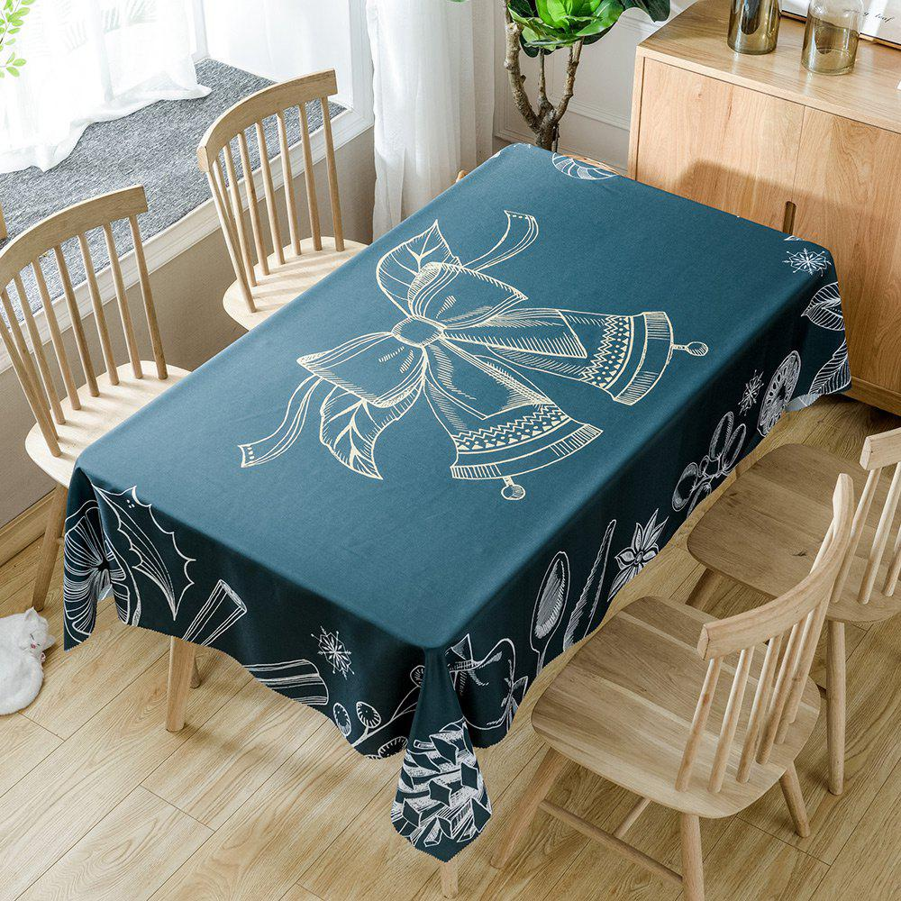 Nappe de Table Imperméable Imprimé Cloches de Noël