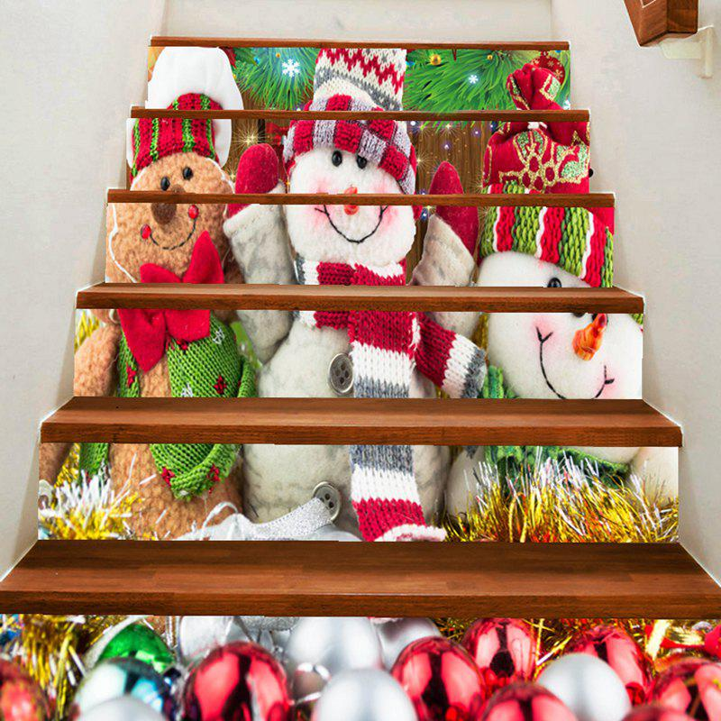 Shop Three Cute Snowman are Smiling Pattern Decoration Stair Decals