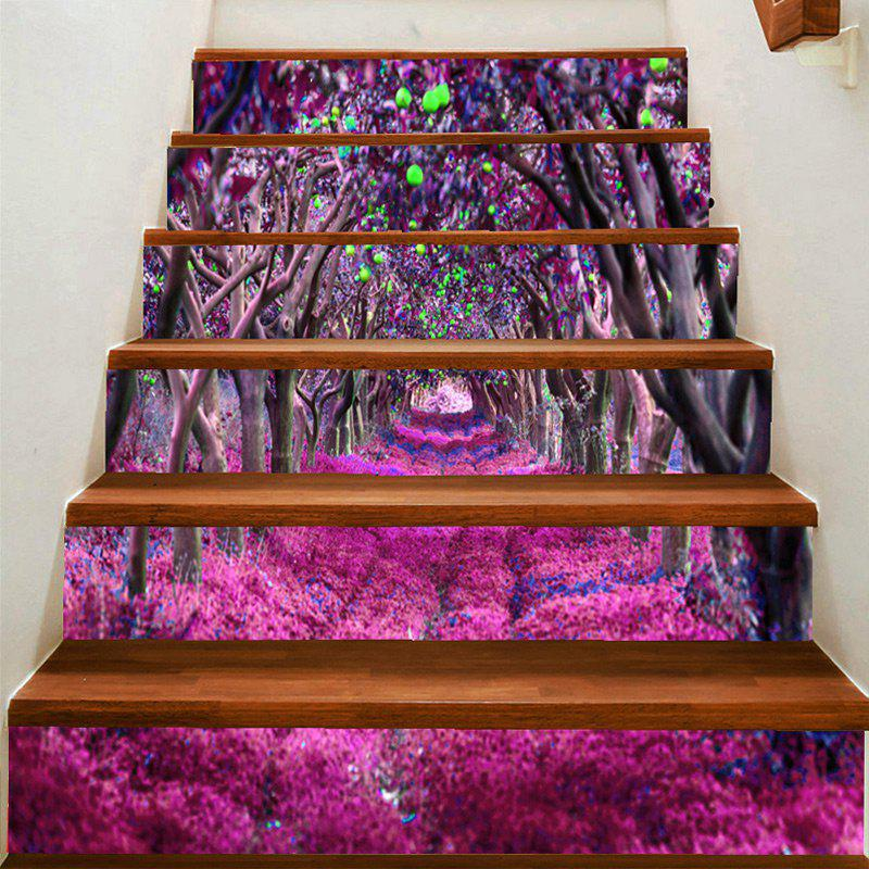 Chic Fantasy Flower Road Printed Stair Stickers