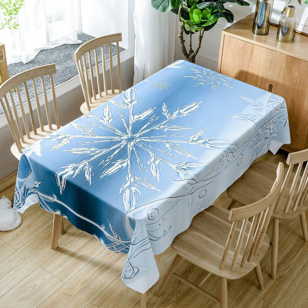 Shops Christmas Snowflake Print Fabric Waterproof Table Cloth