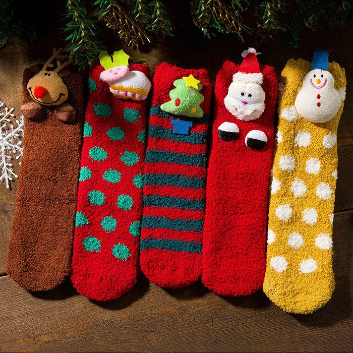 Outfits 5 Pairs Unisex Funny Christmas Cotton Socks