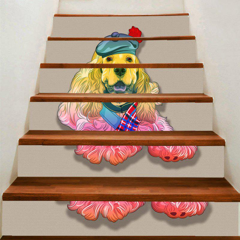 Outfits Cute Dog Pattern DIY Stair Stickers