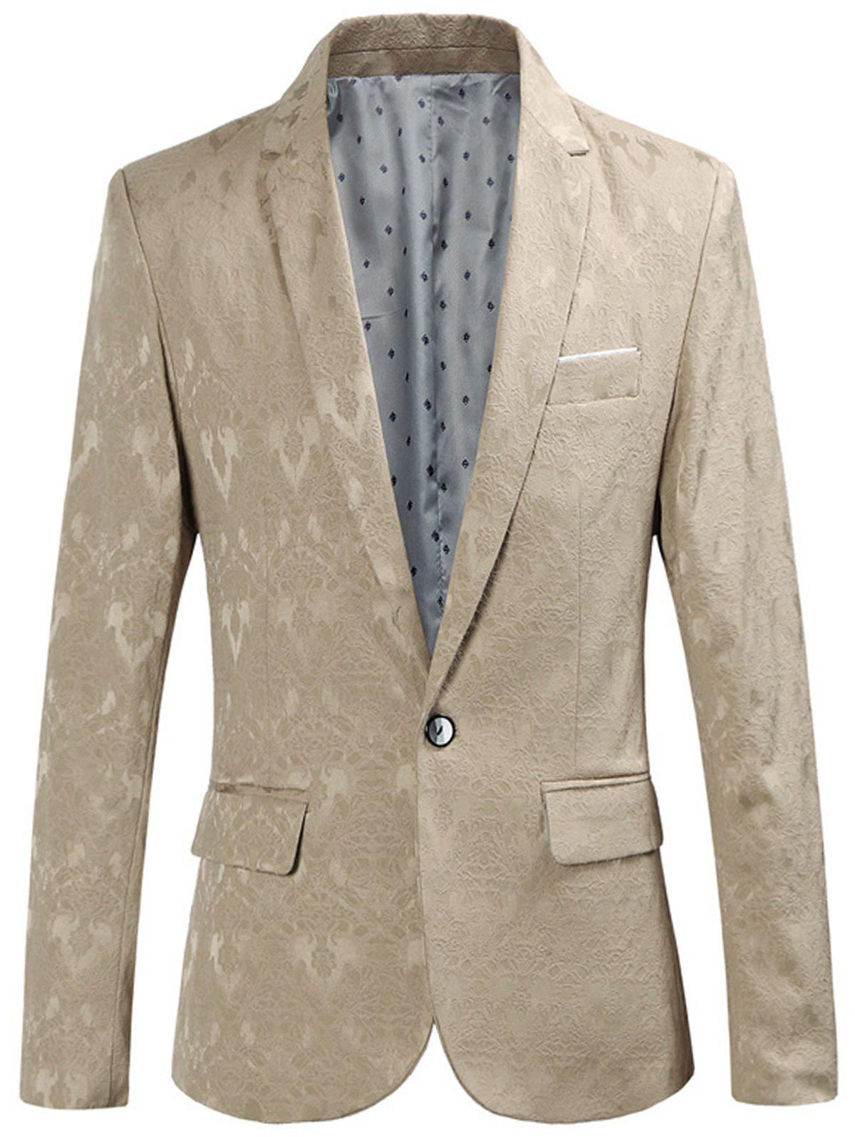 Latest One Button Edging Jacquard Blazer