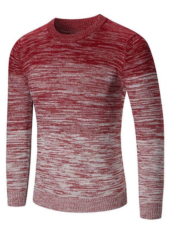Outfits Crew Neck Ombre Space Dyed Sweater
