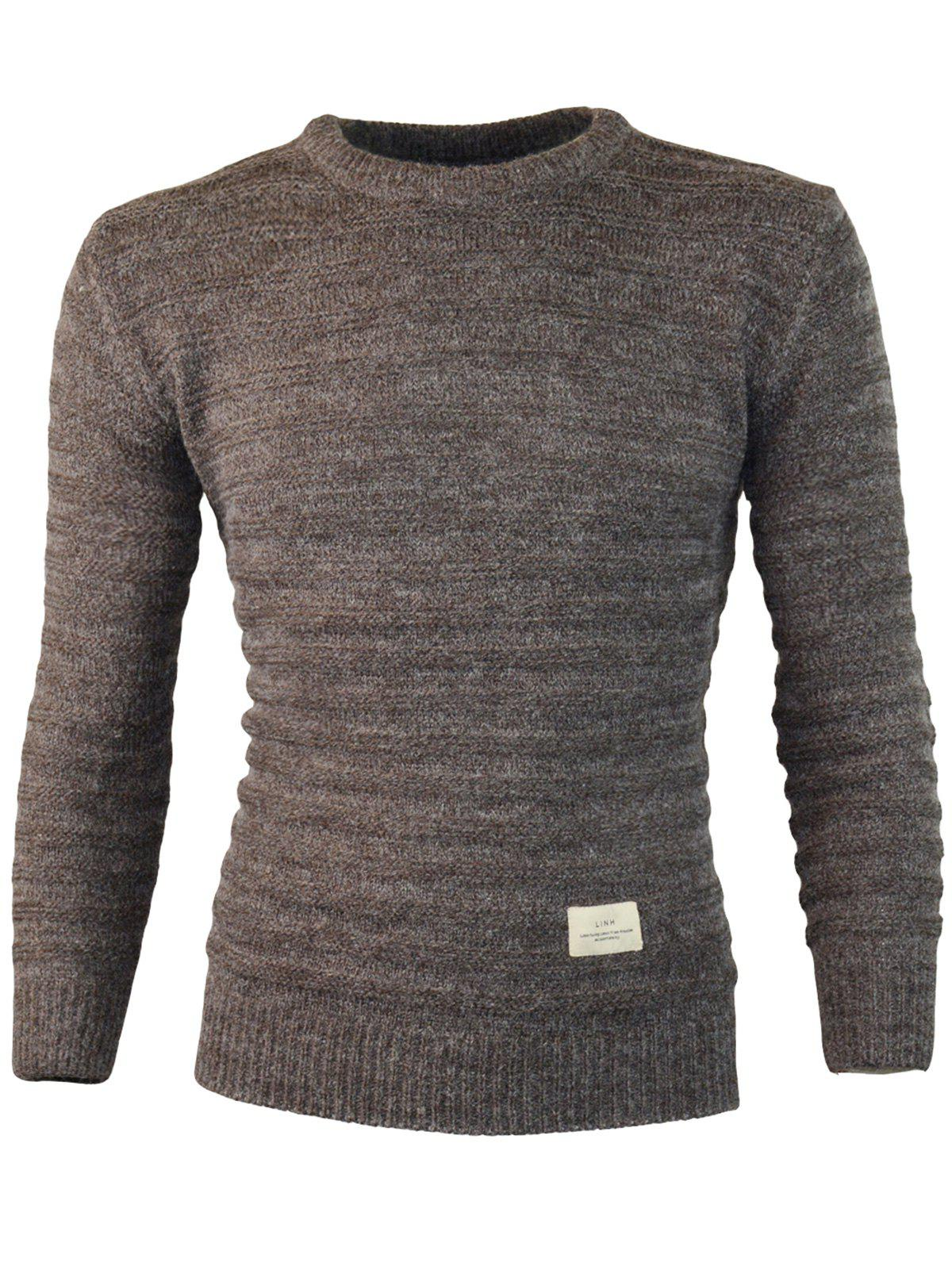 Outfit Patch Design Crew Neck Jumper Sweater