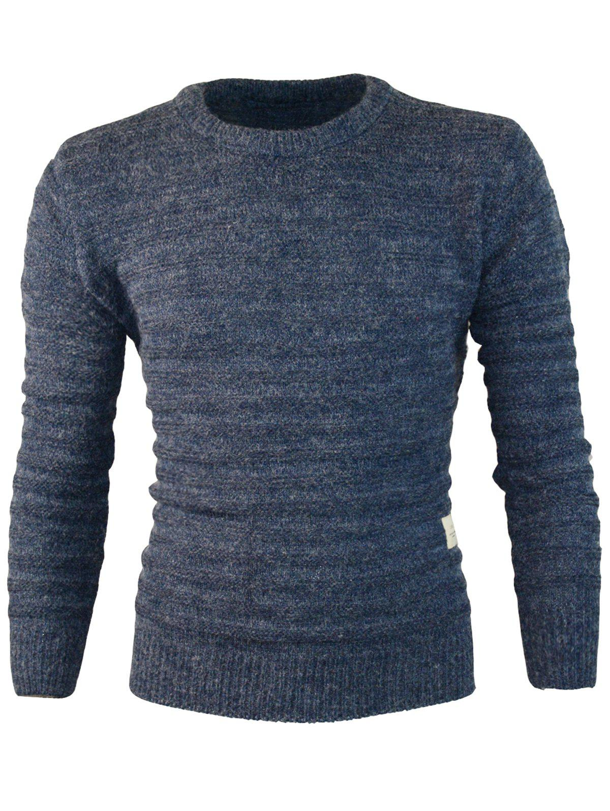 Fancy Patch Design Crew Neck Jumper Sweater