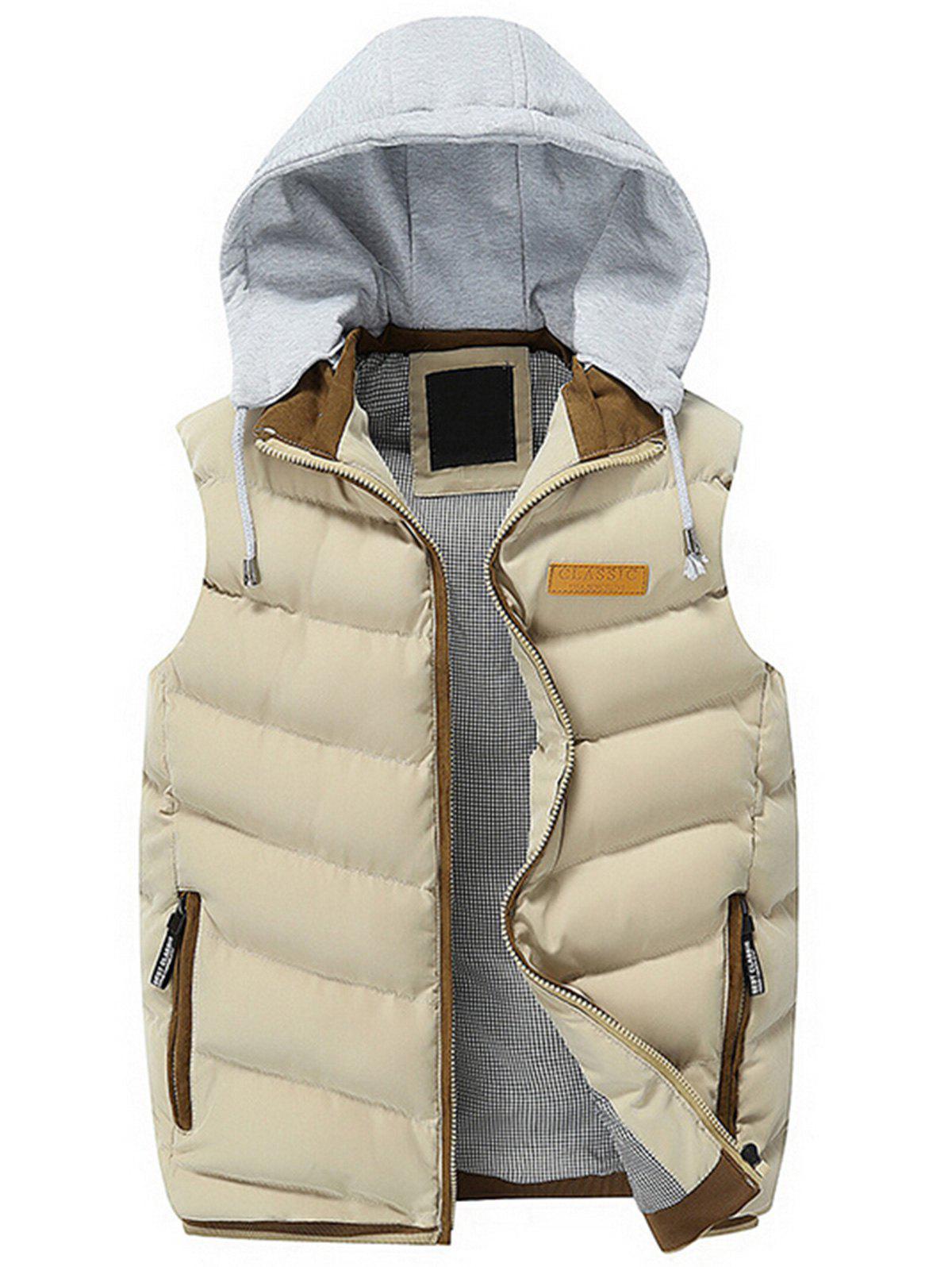 New Zip Up Hooded Lightweight Puffer Vest