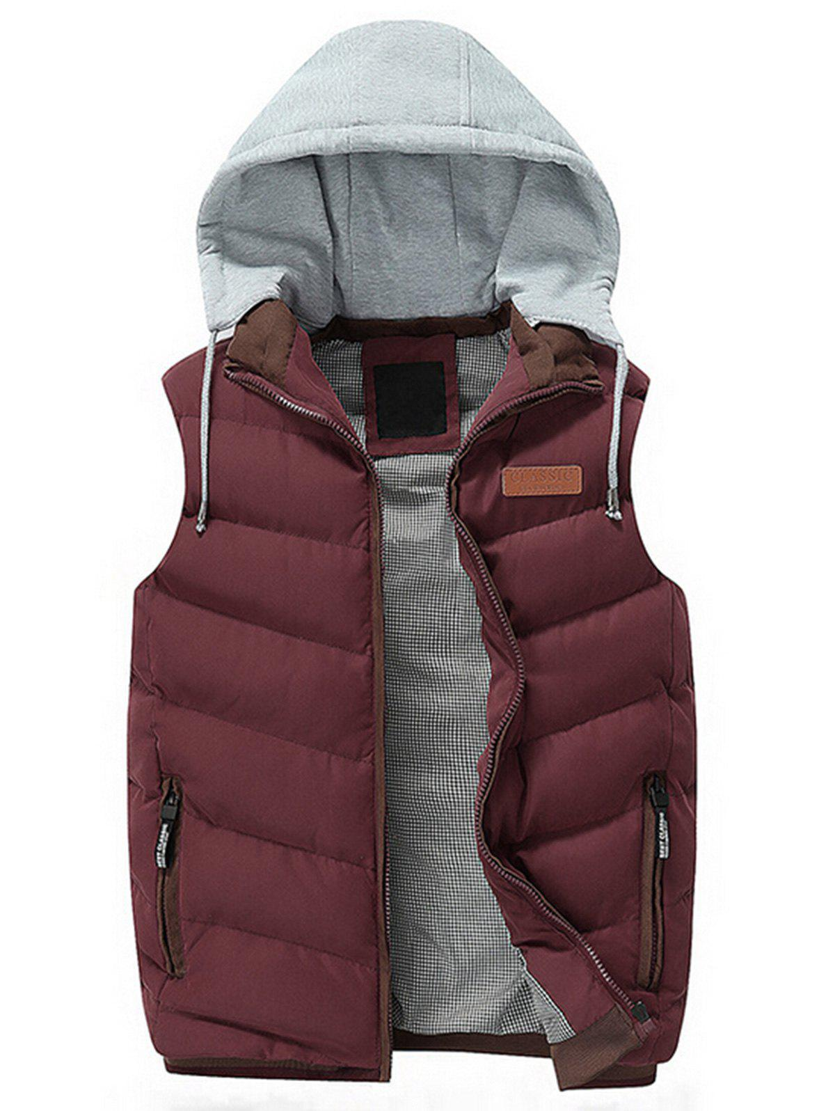 Fashion Zip Up Hooded Lightweight Puffer Vest