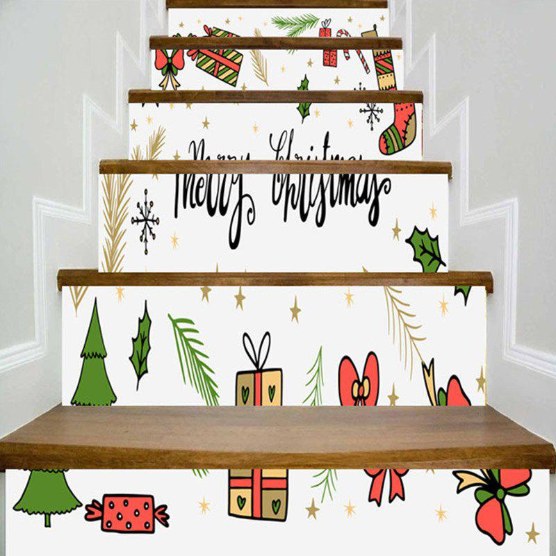 Latest Christmas Elements Pattern Decorative Stair Stickers