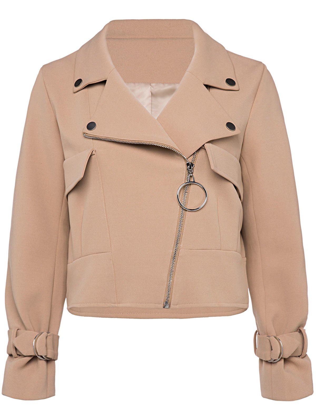 Cheap Zip Up Cropped Jacket