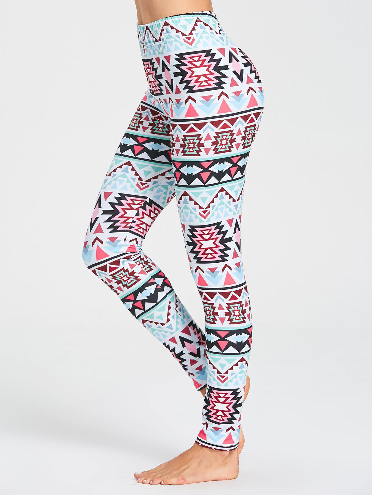 Shop Tribal Pattern Workout Leggings