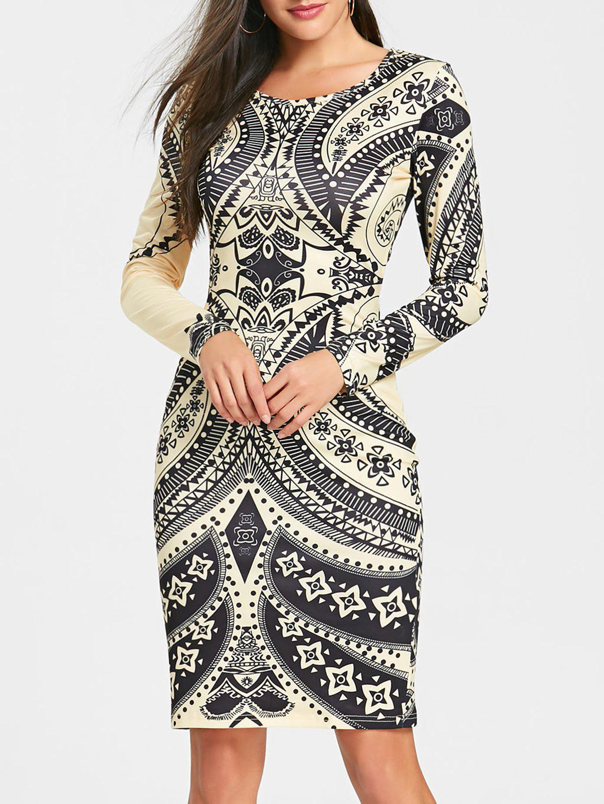 Best Tribal Printed Cut Out Bodycon Dress