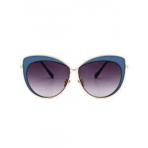 Vintage Metal Full Frame Embellished Cat Eye Sunglasses -