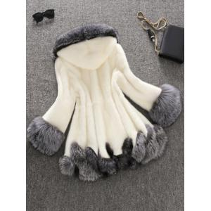 Faux Fur Hooded Coat -