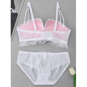 Push Up Bra and Lace Panties Set -