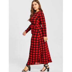 Plus Size Checked Maxi Dress -