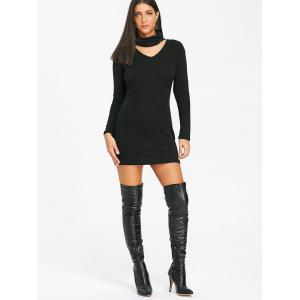 Choker Knitted Bodycon Dress -