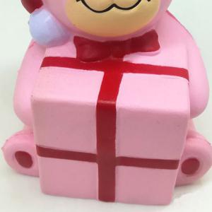 Stress Relief Squishy Toy Slow Rising PU Simulation Christmas Bear -