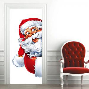 Fat Santa Claus Patterned Door Cover Stickers -