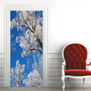 Branch with Snow Pattern Door Stickers -