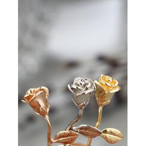 Rose Flower Alloy Pendant Necklace -