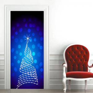 Star Dot Embellished Door Cover Stickers -