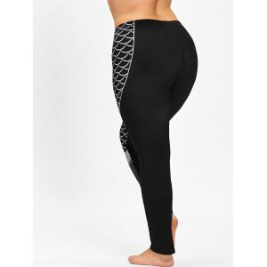 Plus Size Fishtail Print Leggings -