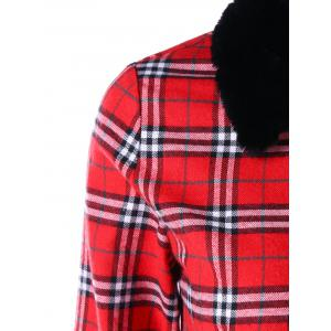Plus Size Plaid Dress Coat -