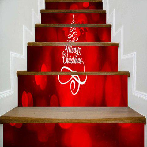 Outfit Merry Christmas Tree Deer Printed Decorative Stair Stickers