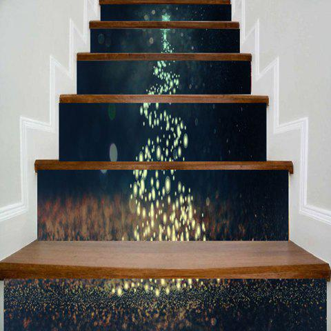 Trendy Sparkling Christmas Tree Printed Decorative Stair Stickers