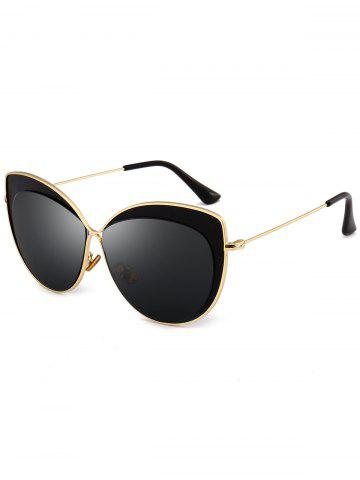 Fashion Vintage Metal Full Frame Embellished Cat Eye Sunglasses