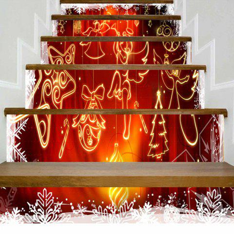 Trendy Christmas Ornaments Angel Printed Stair Stickers