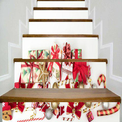 Fashion Christmas Elements Gift Print Decorative Stair Stickers