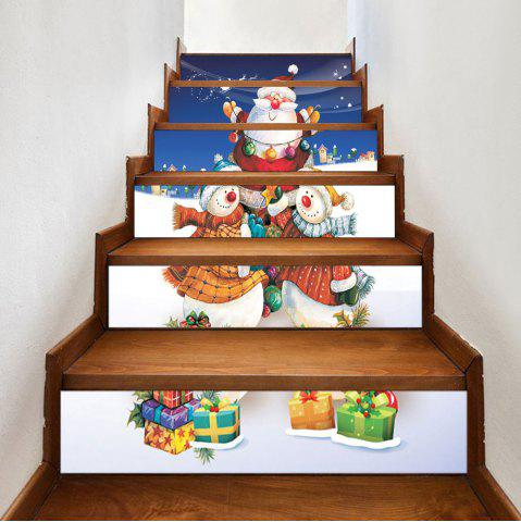 Outfits Christmas Snowmen Santa Claus Gift Printed Stair Stickers