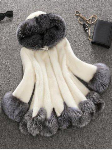 Discount Faux Fur Hooded Coat