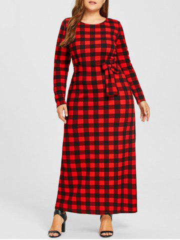 Affordable Plus Size Checked Maxi Dress
