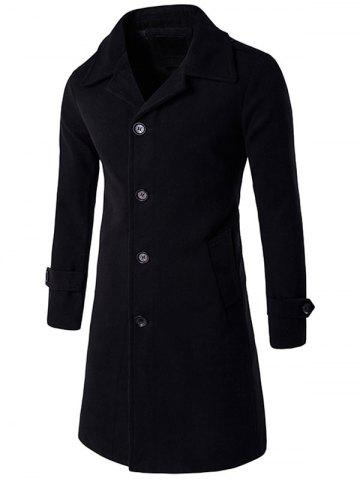 Buy Epaulet Single Breasted Long Wool Blend Coat