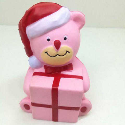 Outfits Stress Relief Squishy Toy Slow Rising PU Simulation Christmas Bear