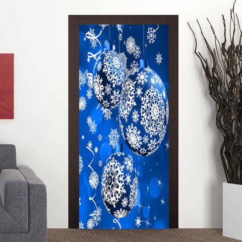 Discount Christmas Snowflake Printed Ornament Ball Pattern Door Stickers