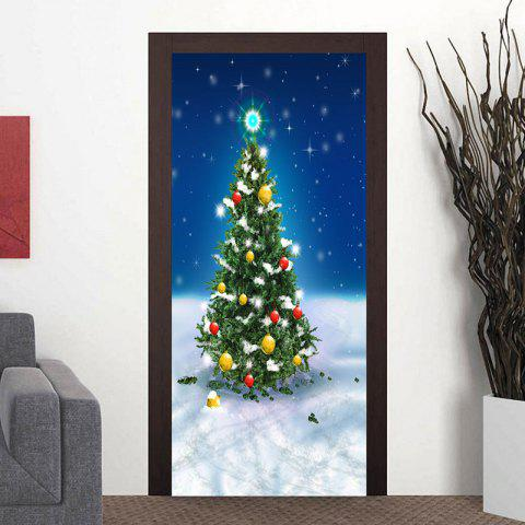 Best Snowfield Christmas Tree Pattern Door Art Stickers