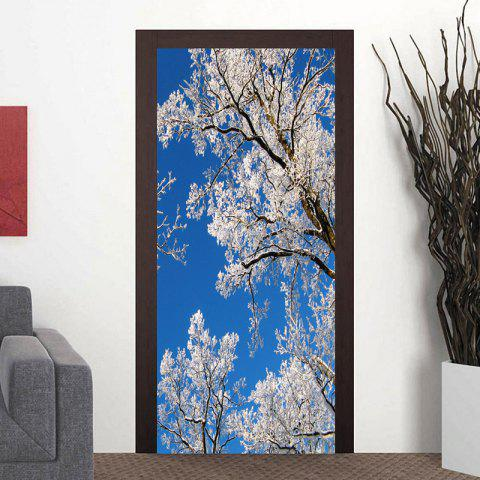 Shop Branch with Snow Pattern Door Stickers