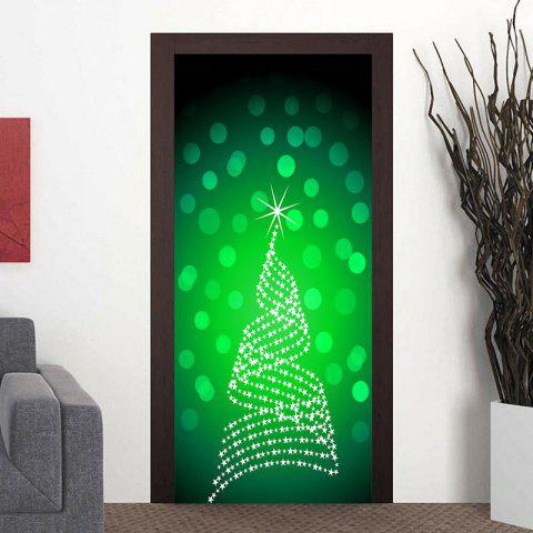 New Shinning Christmas Tree Pattern Door Art Stickers