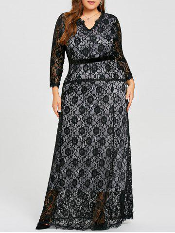 Shop Plus Size Lace Maxi Evening Formal Dress