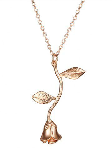 Store Rose Flower Alloy Pendant Necklace