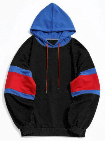 Shops Color Block Kangaroo Pocket Mens Hoodie