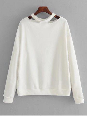 Chic Cut Out Loose Cotton Sweatshirt